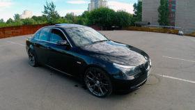 Фото BMW, E60, 525, sedan, диски, бмв, черный, седан