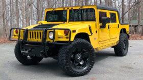 Авто Hummer, h1, хаммер, желтый, внедорожник, 2006