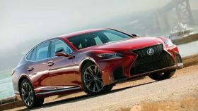 Фото Lexus, LS 500, F Sport, лексус, спорт, red, 2018