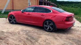 Фото Volvo, S90, вольво, седан, long, red