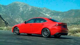 Фото Lexus, лексус, красный, седан, IS 300, 2016